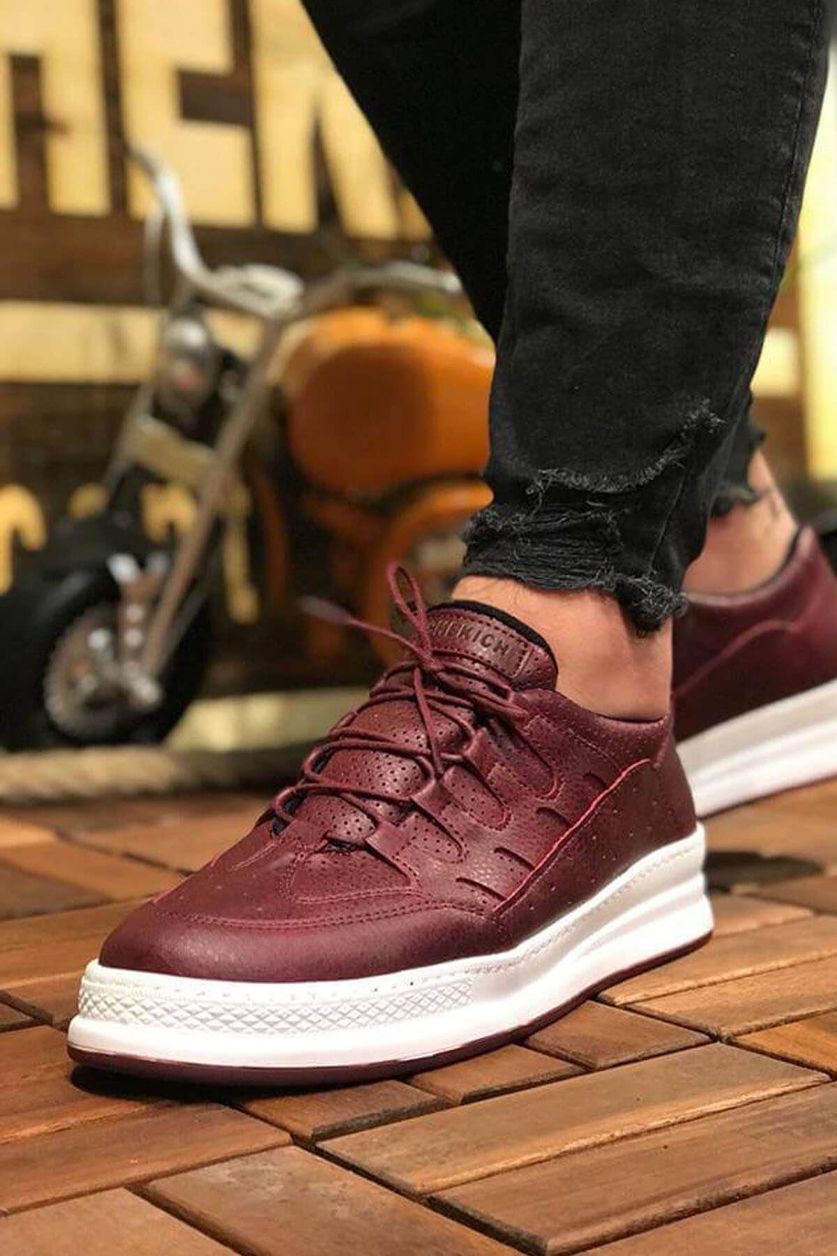 Chekich CH040 BT Erkek Ayakkabı BORDO