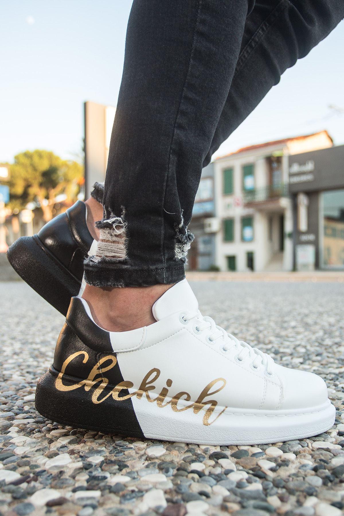 Chekich CH254 BT Erkek Ayakkabı 426 BEYAZ-SİYAH CHEKICH
