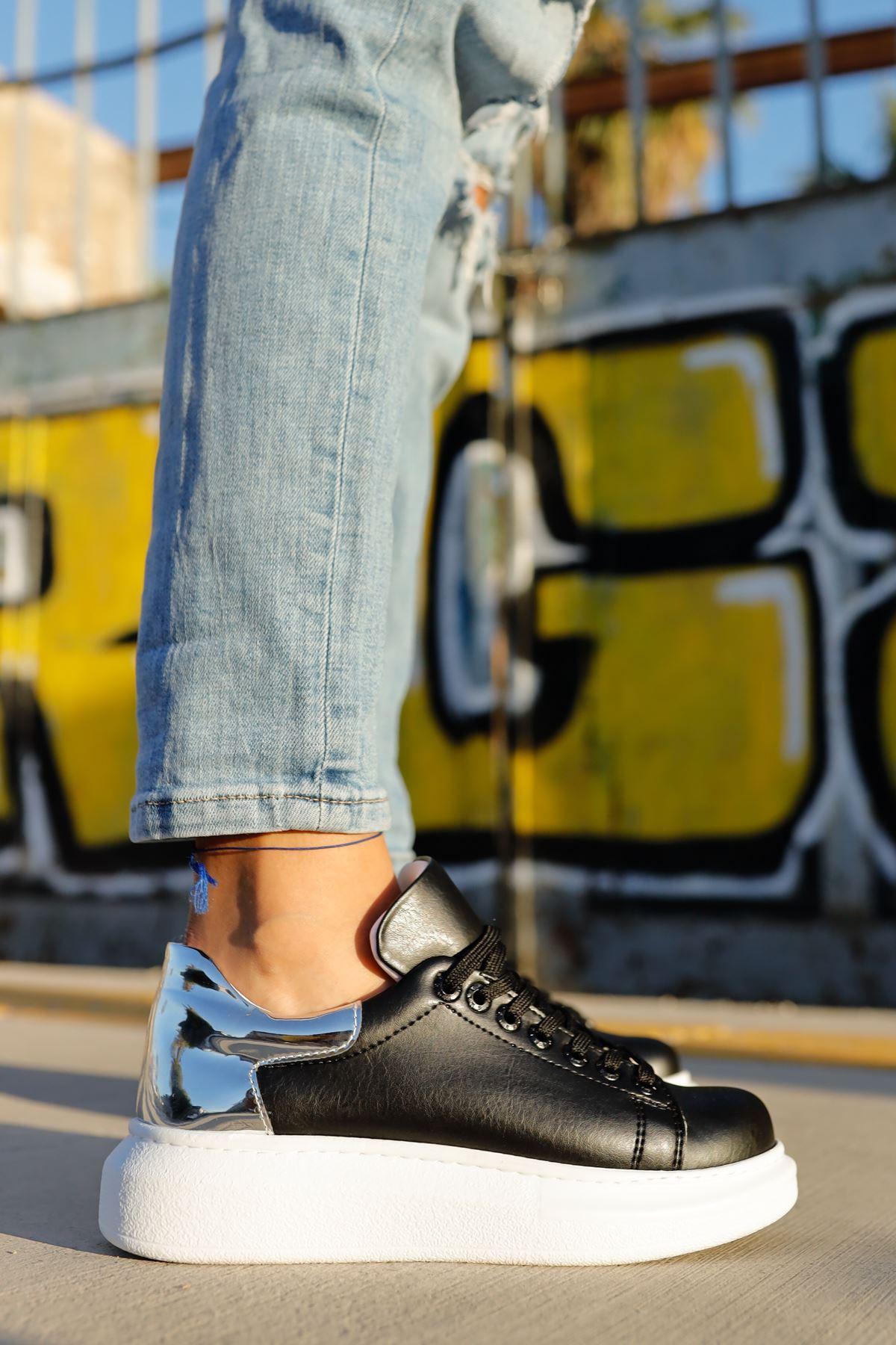 Chekich CH259 BT Kadın Ayakkabı SİYAH / GÜMÜS
