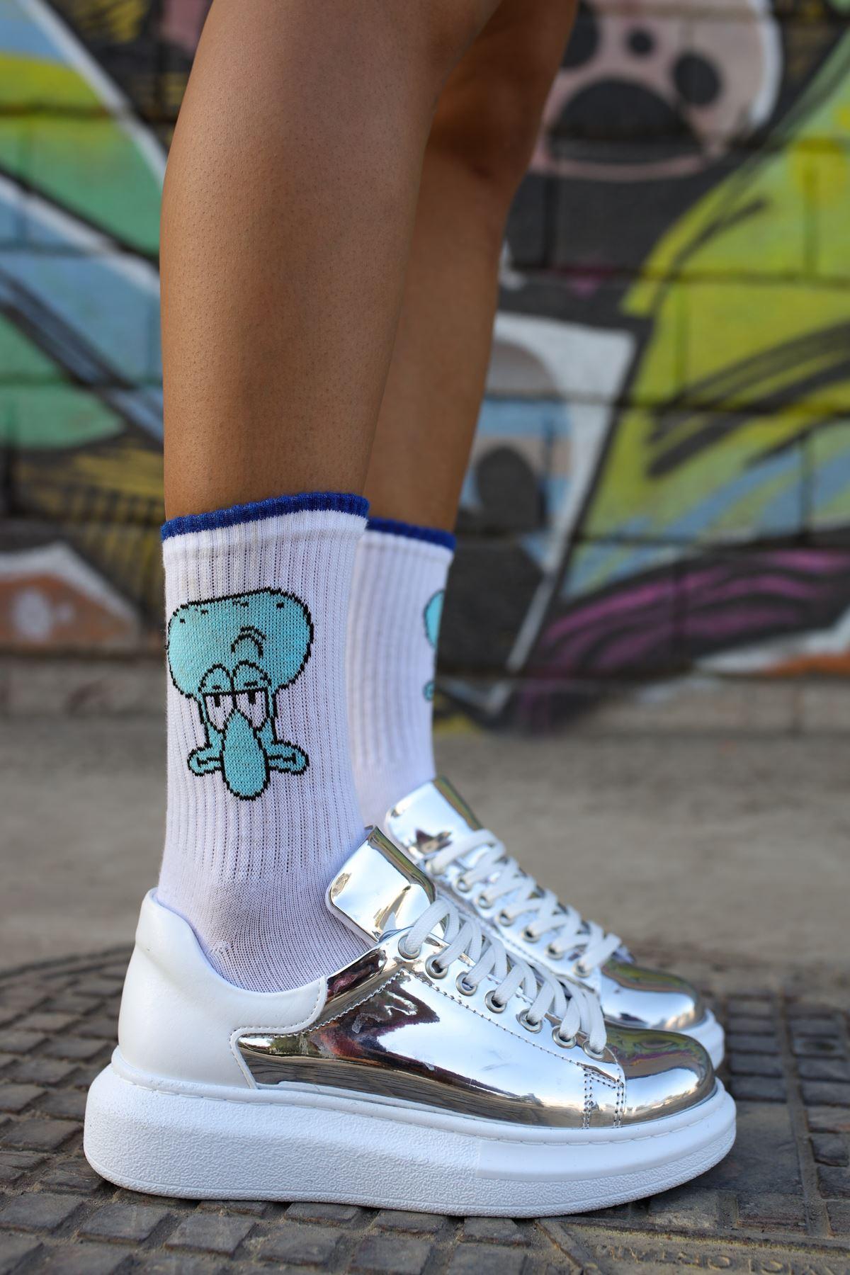 Chekich CH259 BT Kadın Ayakkabı GUMUS / BEYAZ