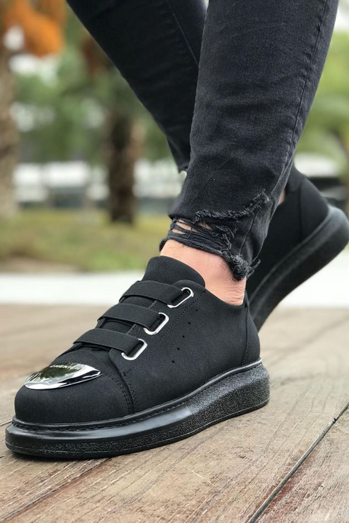 Chekich CH251 Süet ST Erkek Ayakkabı SIYAH