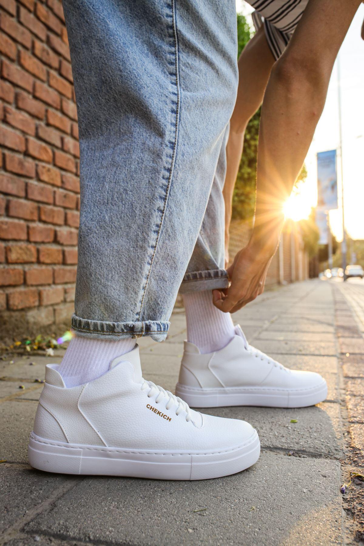 Chekich CH004 BT Erkek Ayakkabı BEYAZ