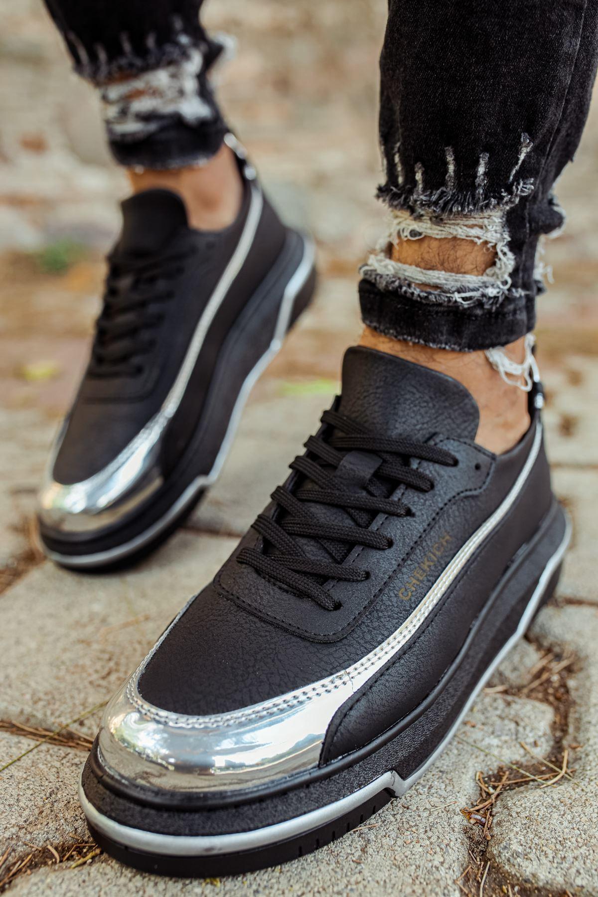 Chekich CH041 ST Erkek Ayakkabı SİYAH/GUMUS