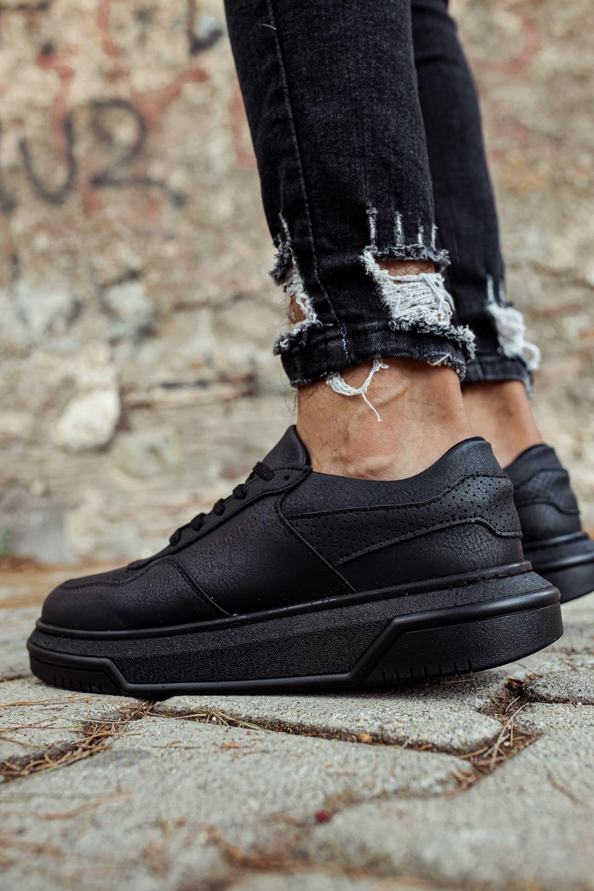 Chekich CH075 İpekyol Siyah Taban Erkek Ayakkabı SIYAH