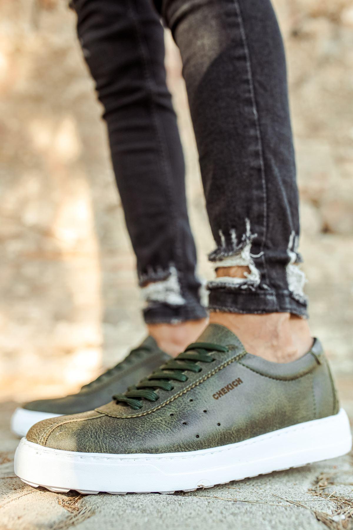 Chekich CH063 BT Erkek Ayakkabı HAKİ