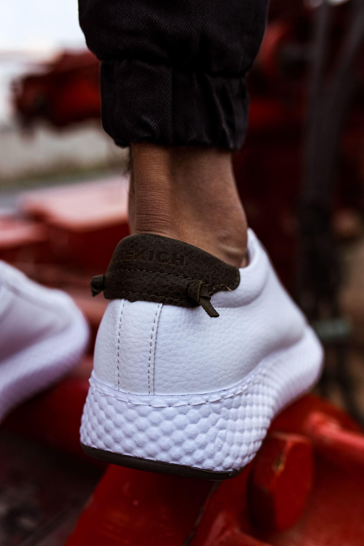 Chekich CH107 GBT Erkek Ayakkabı BEYAZ / HAKİ