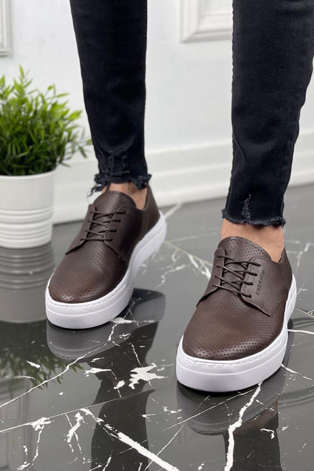 Chekich CH061 BT Erkek Ayakkabı KAHVE