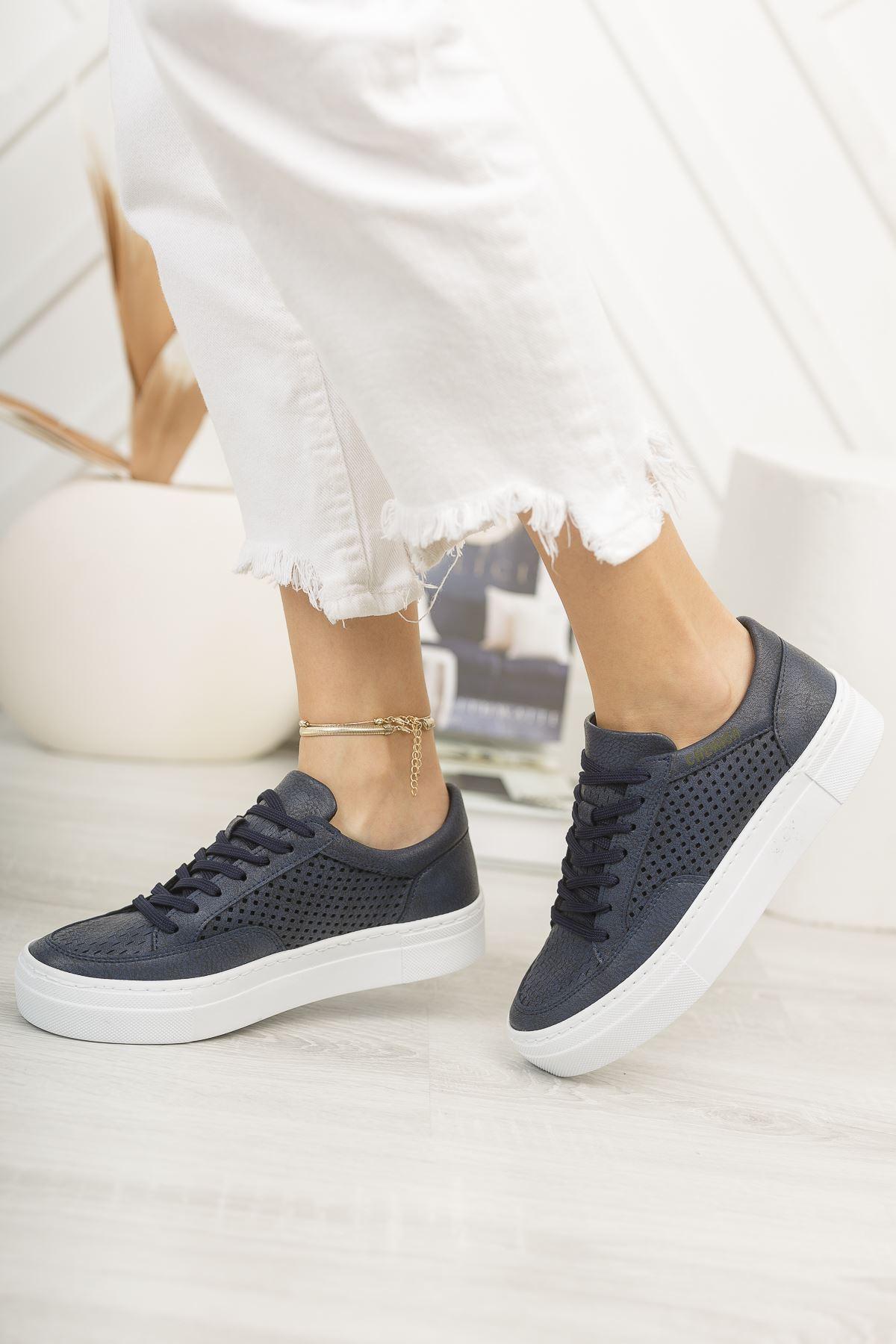 Chekich CH015 BT Kadın Ayakkabı LACİVERT