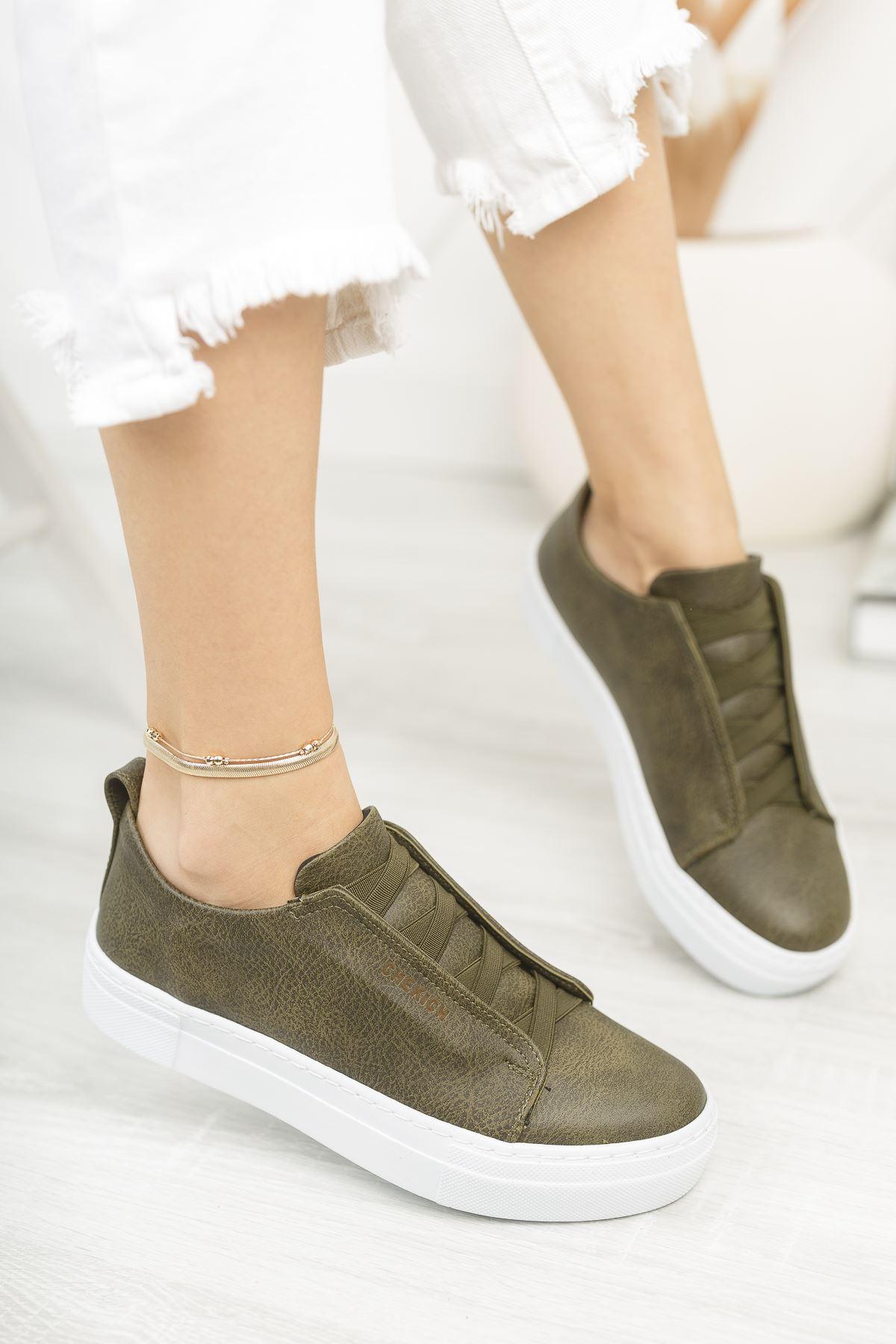 Chekich CH013 BT Kadın Ayakkabı HAKİ