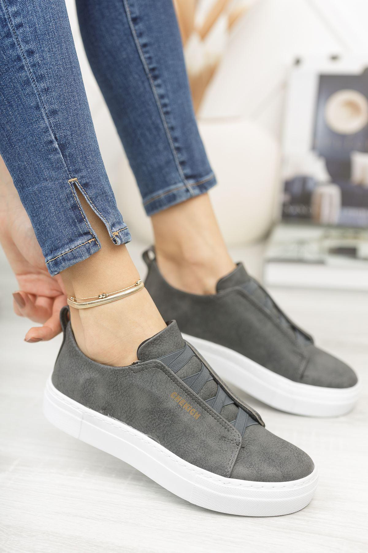 Chekich CH013 BT Kadın Ayakkabı ANTRASİT