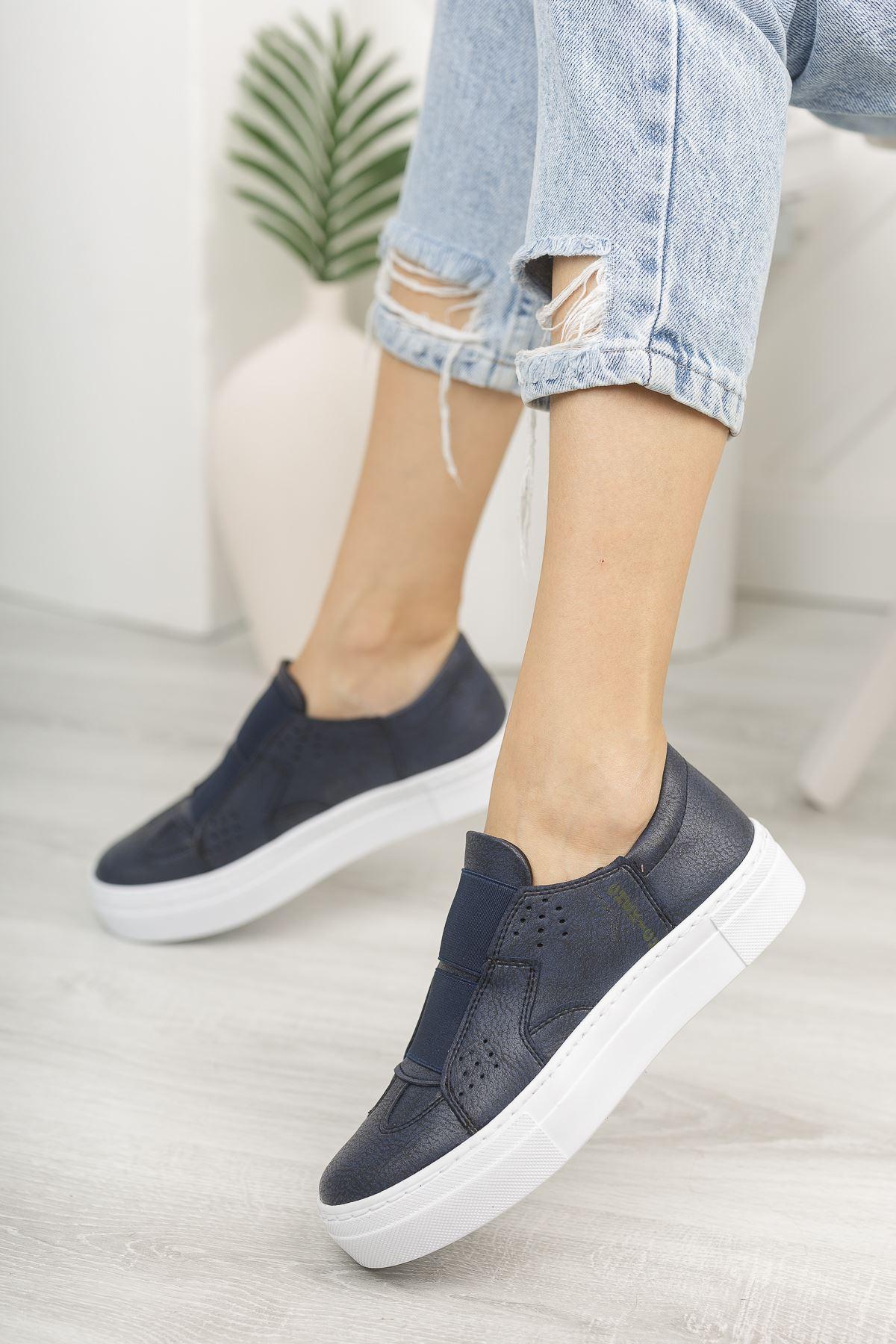Chekich CH033 BT Kadın Ayakkabı LACİVERT