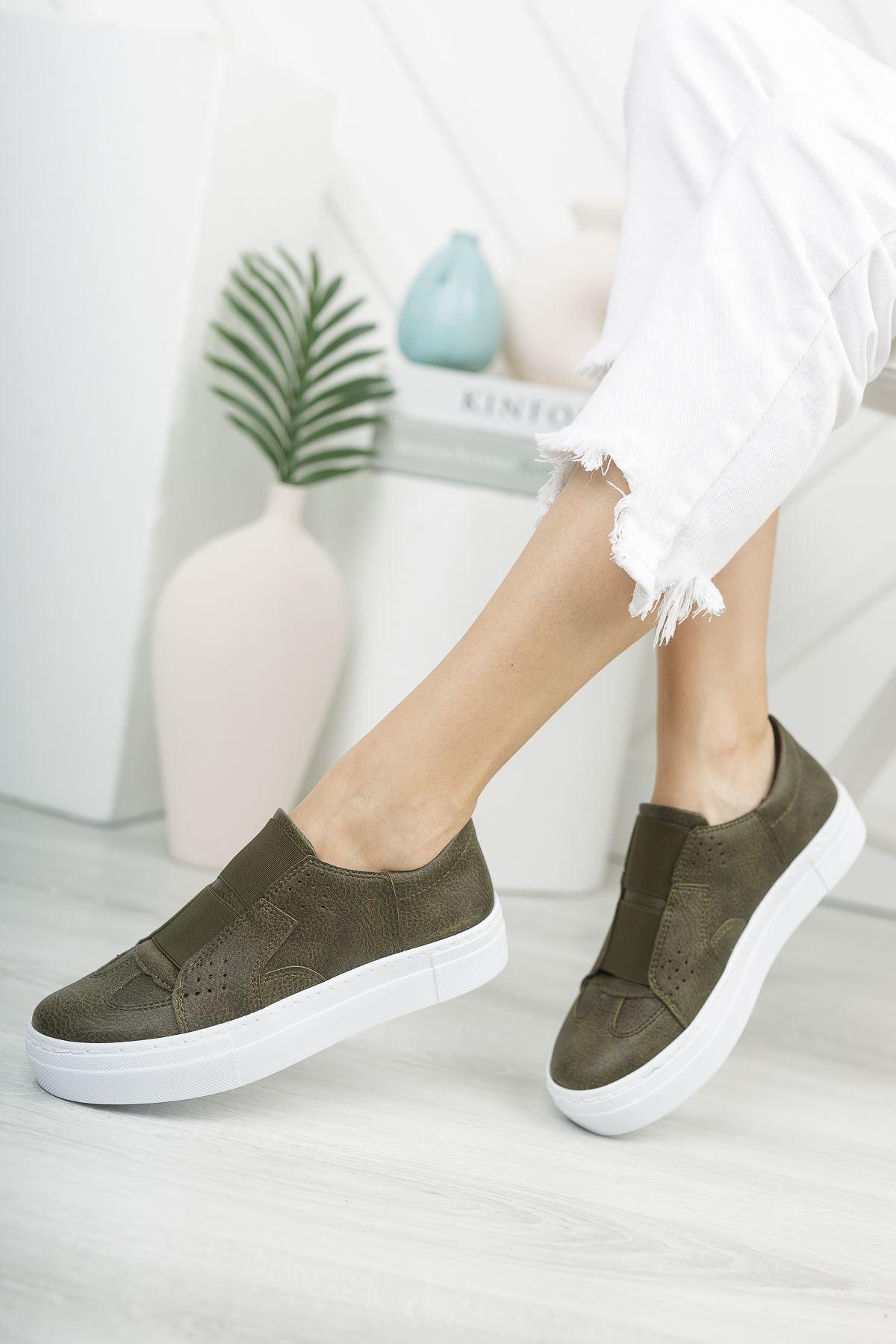 Chekich CH033 BT Kadın Ayakkabı HAKİ