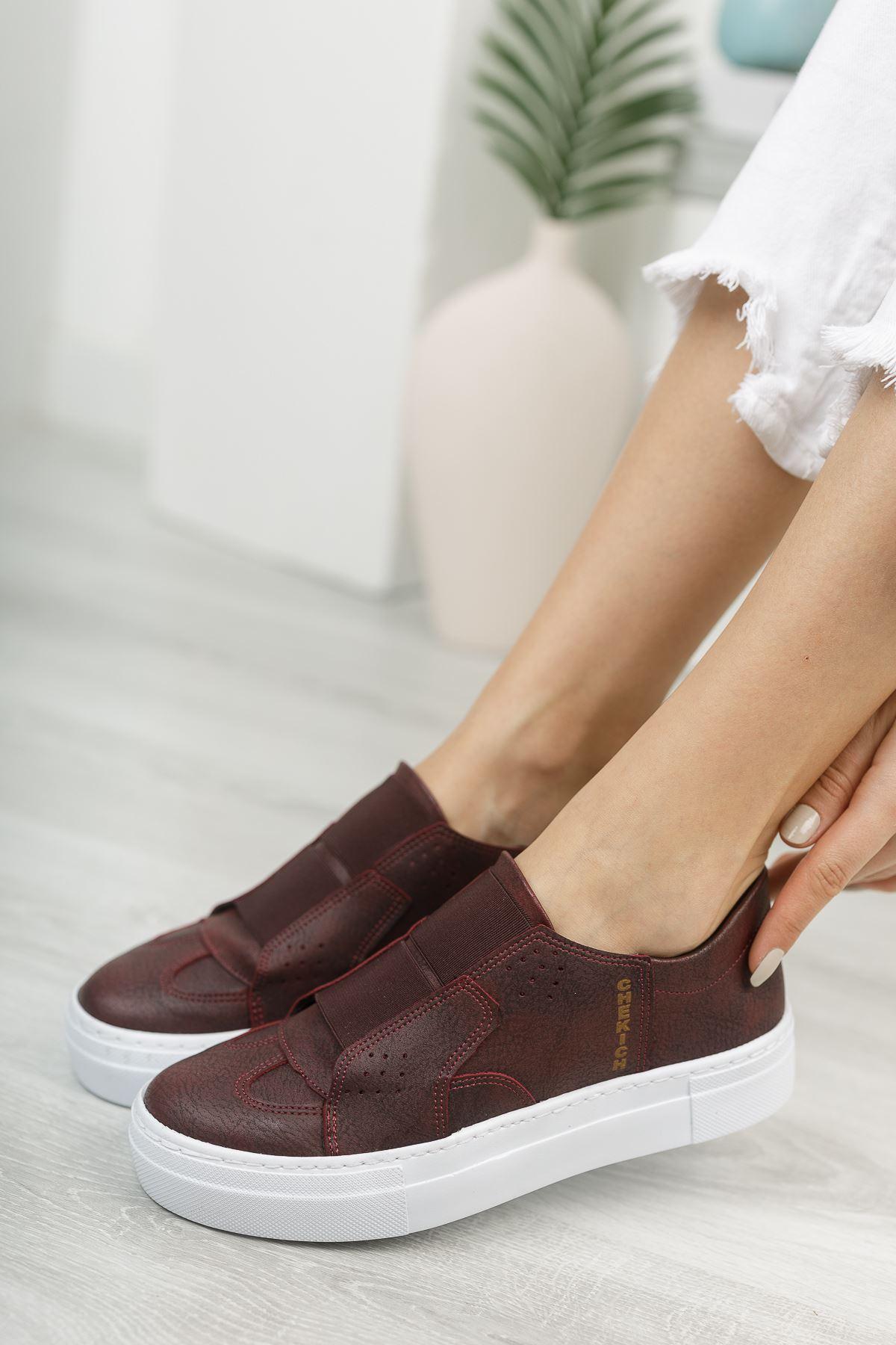 Chekich CH033 BT Kadın Ayakkabı BORDO