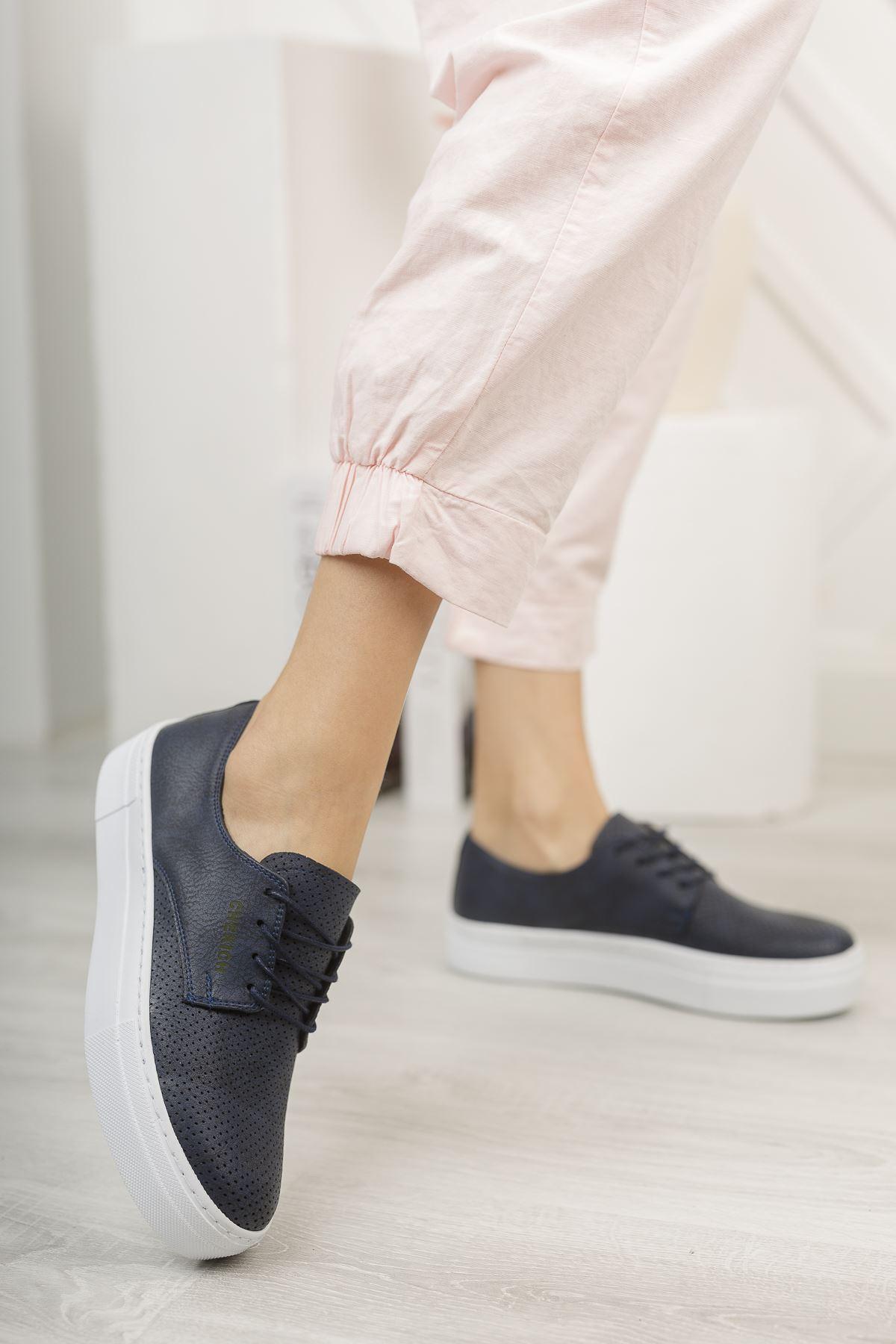 Chekich CH061 BT Kadın Ayakkabı LACİVERT