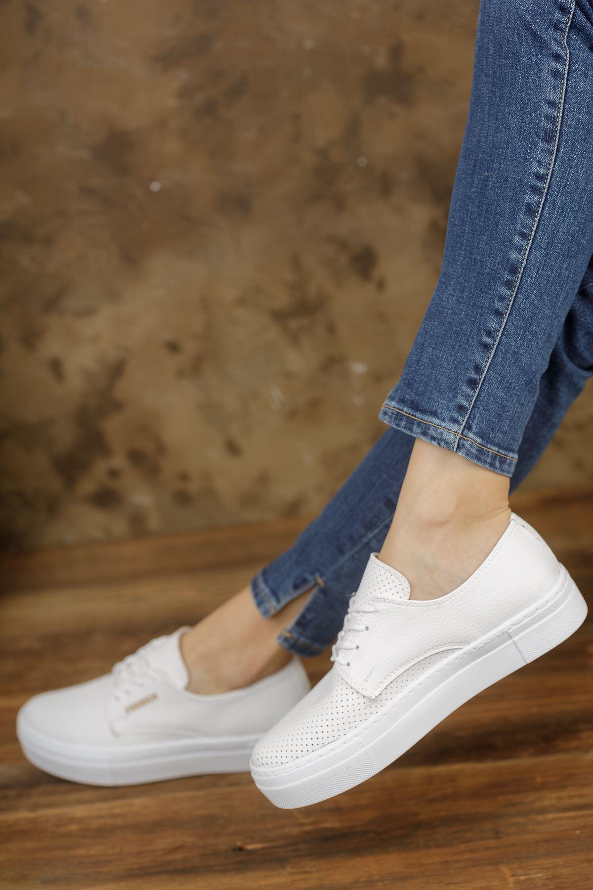 Chekich CH061 BT Kadın Ayakkabı BEYAZ