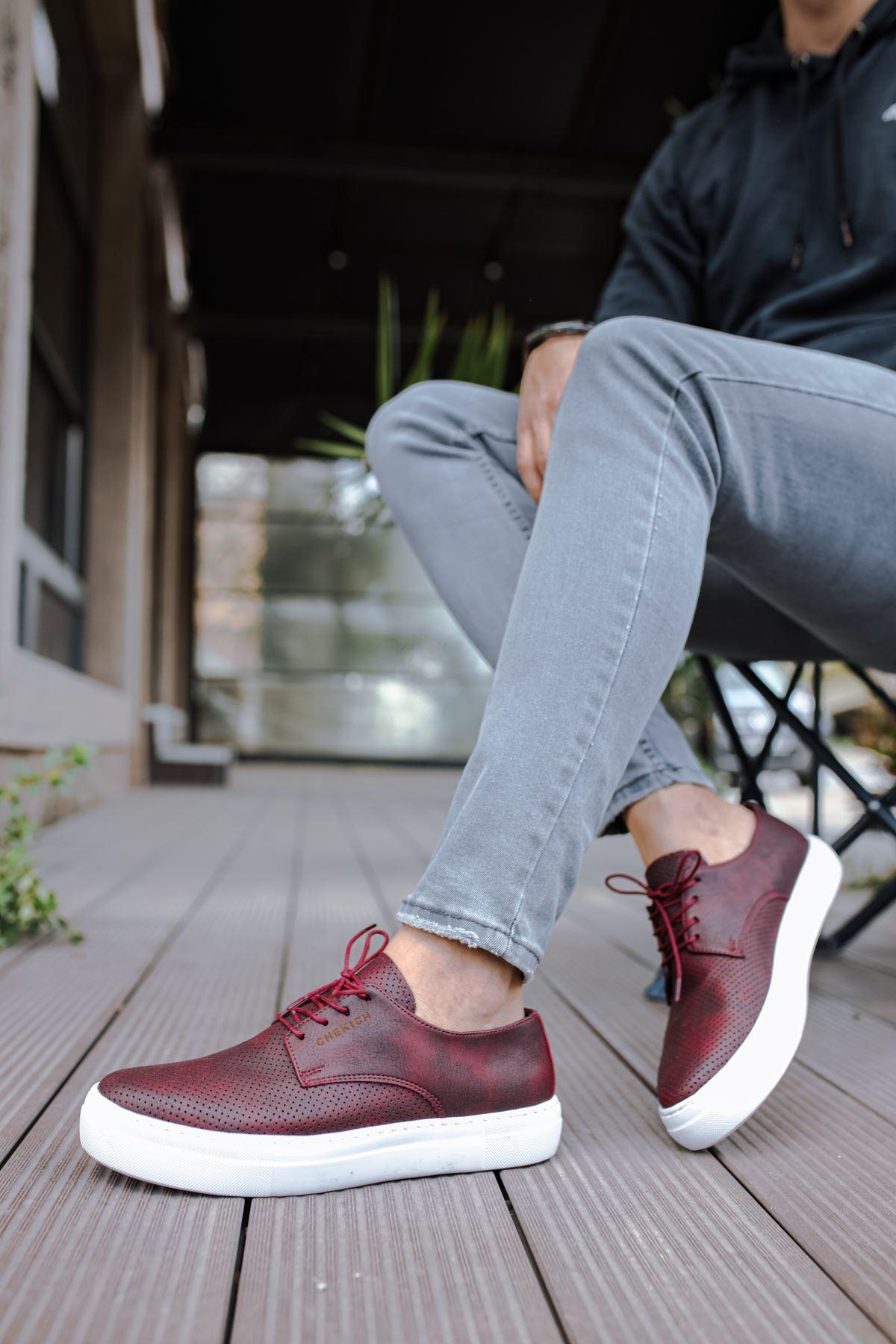 Chekich CH061 BT Erkek Ayakkabı BORDO