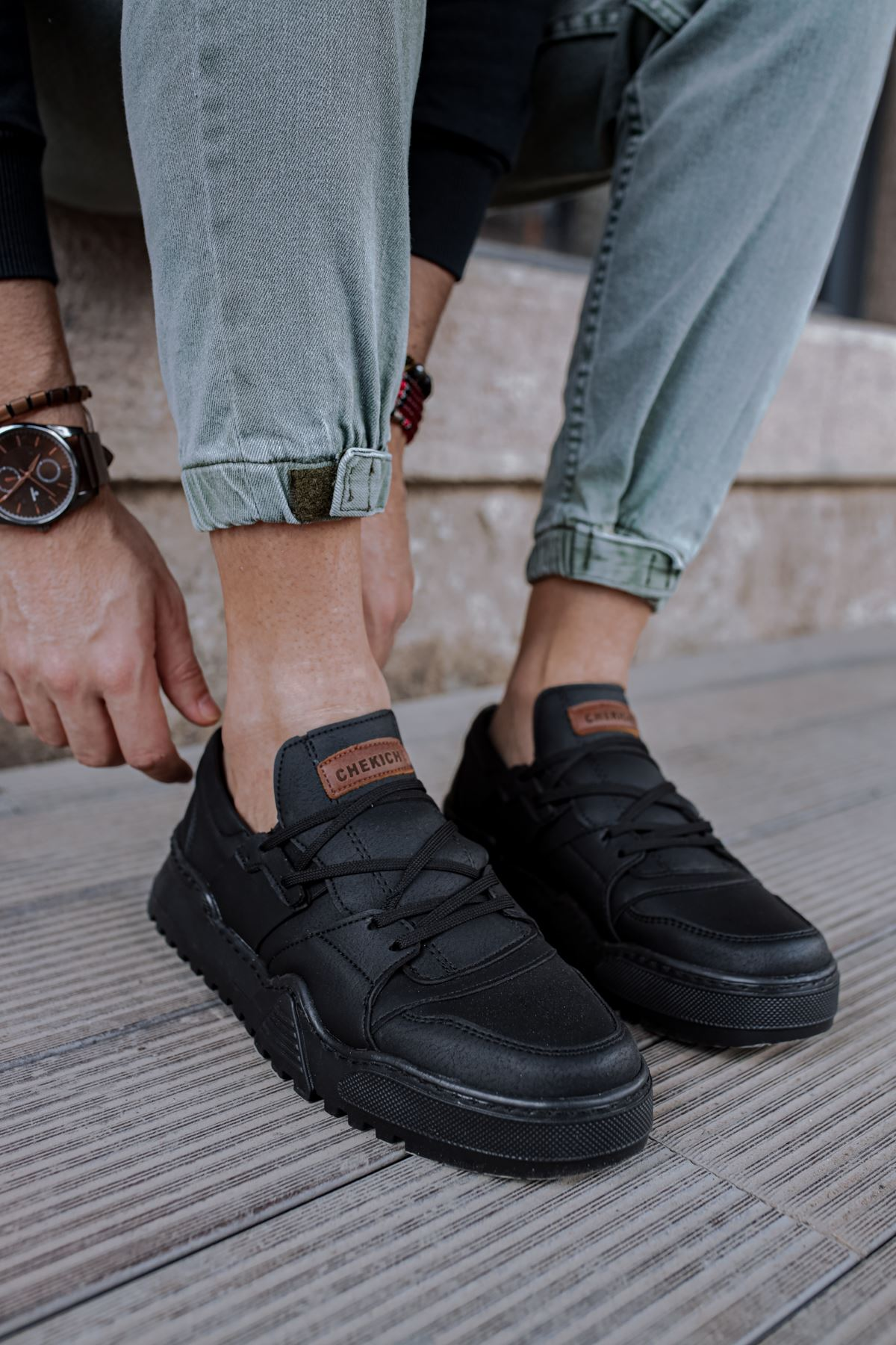 Chekich CH067 SST Erkek Ayakkabı SİYAH/SİYAH