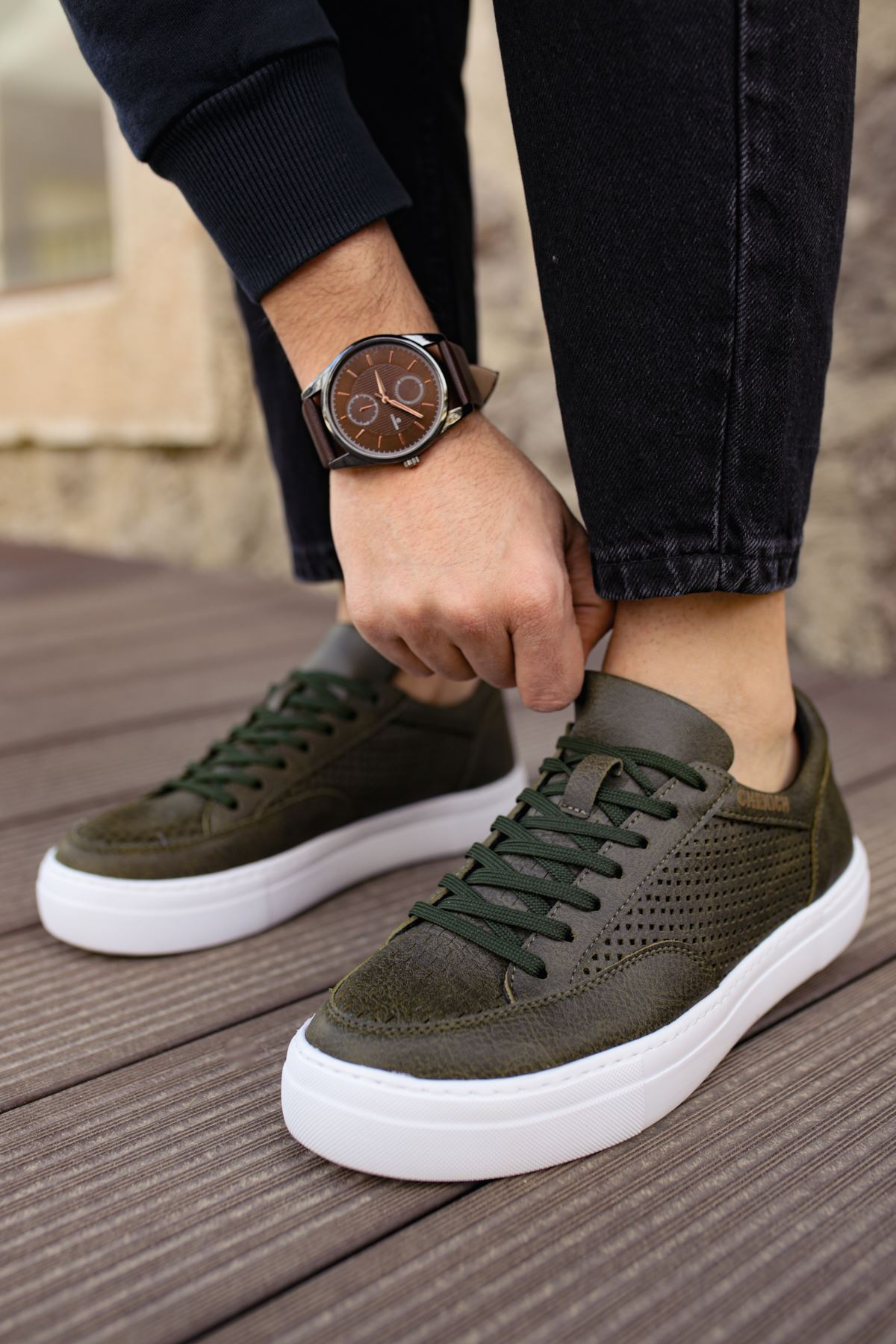 Chekich CH015 BT Erkek Ayakkabı HAKİ