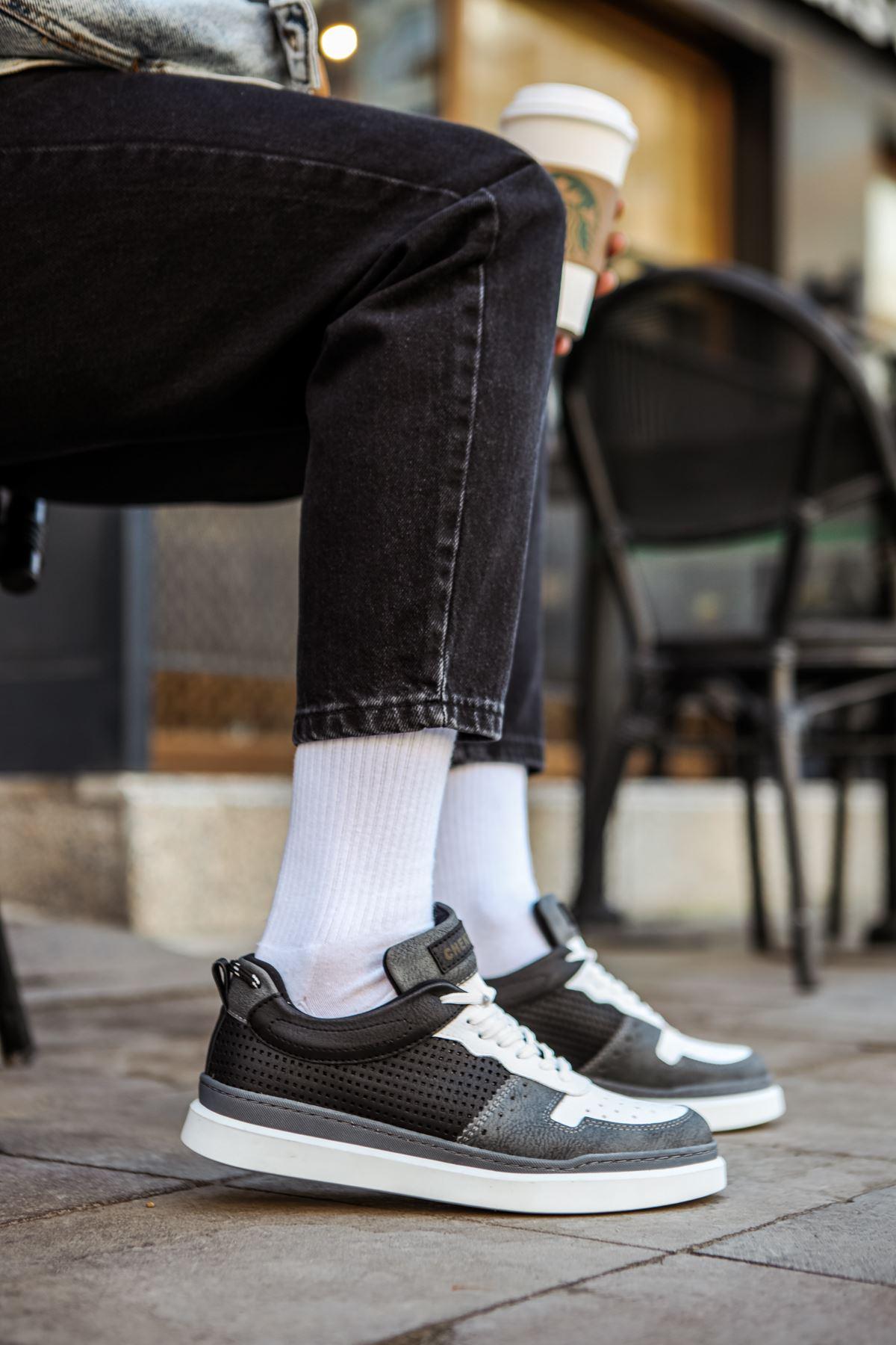 Chekich CH109 BT Erkek Ayakkabı ANTRASİT/BEYAZ