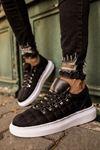 Chekich CH022 Kareli BT Erkek Ayakkabı SIYAH