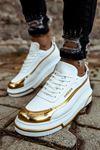 Chekich CH041 BT Erkek Ayakkabı BEYAZ / ALTIN